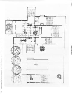 Floor plan of the villa.
