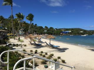 Vacation in paradise with white sandy beach, East End