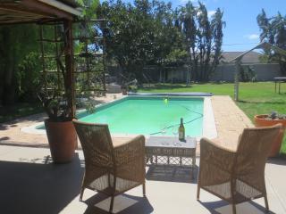 patio, pool, garden