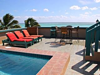 Private 4-5 BR Beachfront Home with Rooftop Pool, San Pedro