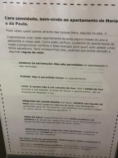 House rules in Portuguese