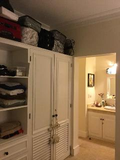 Closet in the master bedroom.