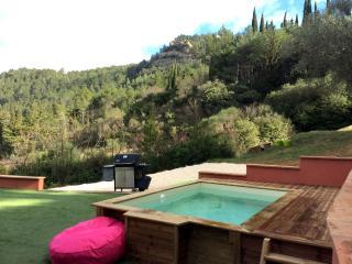 Les Romarins, jardin et piscine