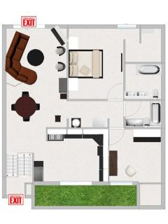 Floor Plan with Fire Exits