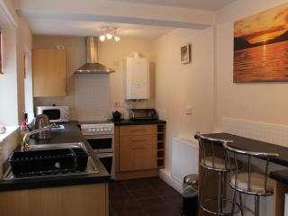 Fully equipped kitchen with cooker, fridge, freezer, washing machine and everything you will need.