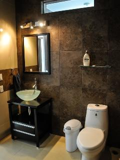 ensuite bathroom for bedrooms, there are two identical bathrooms. One for each bedroom.