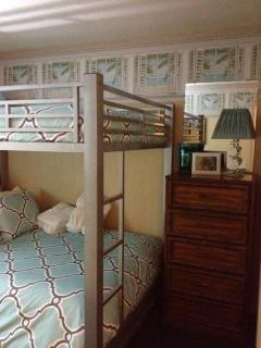 Second bedroom with full over full bunks. Very sturdy no weight limit