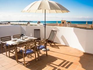 Einzigartige Ferienwohnung am Strand mit Terrasse, Tarifa