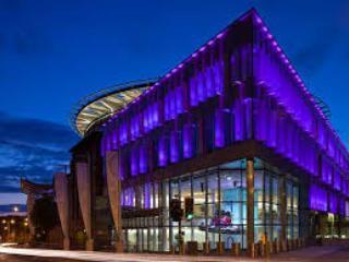Edinburgh International Conference Centre at the other end of Morrison St