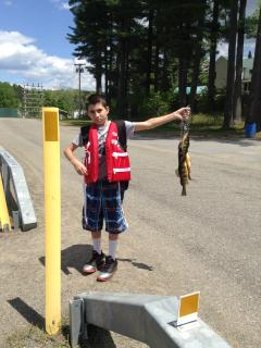 this nice catch was right out front of our cabin in Lake Algonquin