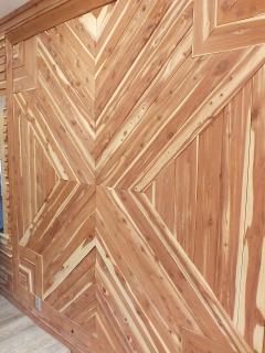 Ahhh!  The smell of new Cedar on this Custom Wall Design