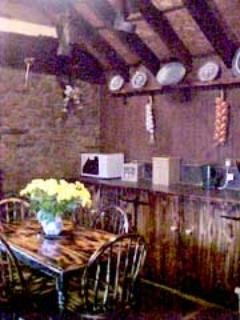 The kitchen in the restored crofters cottage
