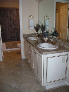 Double sinks in 2nd master bedroom