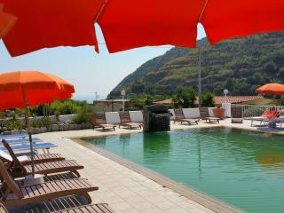 Self-catering studio with heated thermal pools