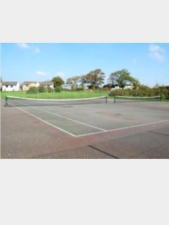 Tennis Courts with views of the sea.