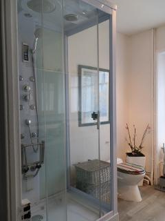 Modern aqua-massage spacious shower/ cabine de douche moderne et spacieux
