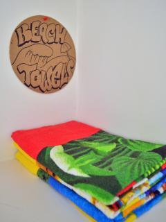 Beach towels for your use.