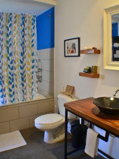Newly renovated bathroom.