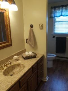 The large upstairs Bathroom.