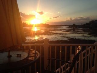 Watch the Sunset from Pub Height Table & Chairs