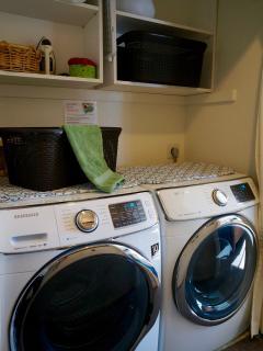 Full sized HE washer/dryer in garden level