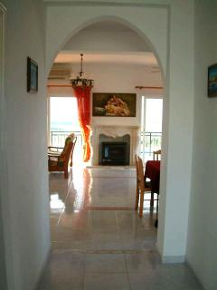 Welcome to the holiday villa Hieros Kepos entrance hallway.