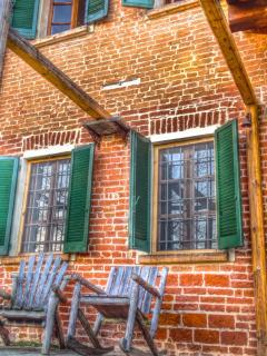 vista dell'ingresso alla casa