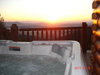 Jacuzzi tub on main deck with color changing lights.