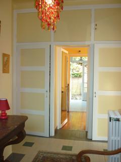 corridor avec dressing desservant toutes les pièces