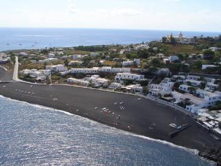 Ficogrande beach, Stromboli. Aerial view