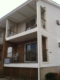 front of the condo, second floor, two levels.