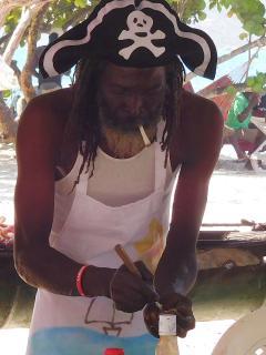 Tobago Cays marine park - beach BBQ