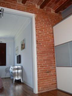 suite with restored Wall bricks