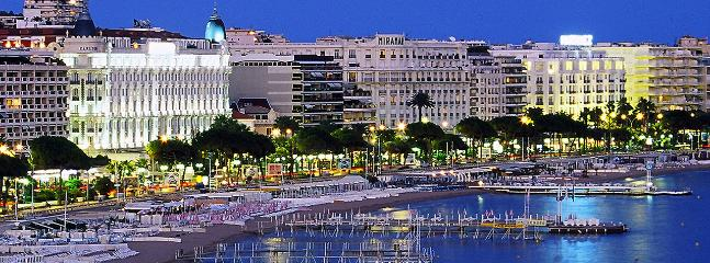 Cannes Croisette by night