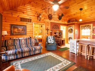 Rustic Log Cabin,Secluded,2 Jacuzzi,WiFi 1mile SDC