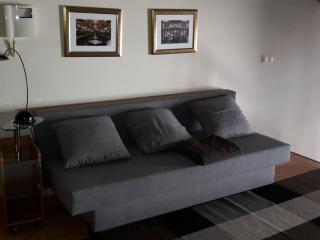 sala comum e sofá cama