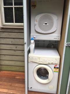 Outside laundry with dryer
