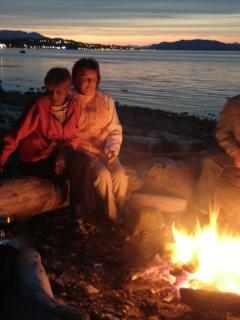 Enjoy a campfire on the beach!