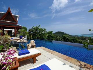 Pool terrace and infinity edge pool