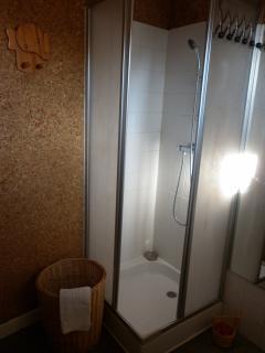 douche dans la salle de bains