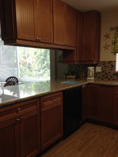 Maple cabinets and granite counters