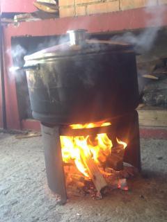 My steamed firewood