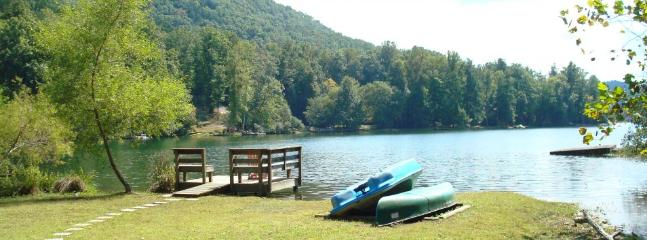 Lakefront /Rumbling Bald Resort amenities/canoe