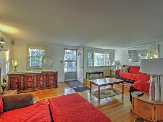 The vibrant and eclectic interior creates a welcoming environment.