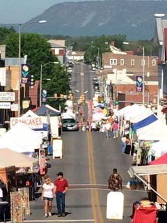 Downtown Luray for Spring Fest!  Every May! It's a GREAT day... come see!
