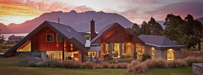 Valhalla Lodge at dusk