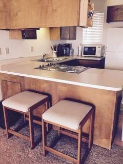 kitchen counters & stove top