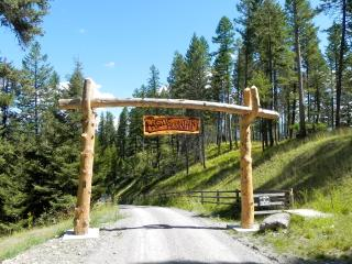 MYSTIC MOUNTAIN head gate lets you know you have arrived to an amazing get away unlike any other!