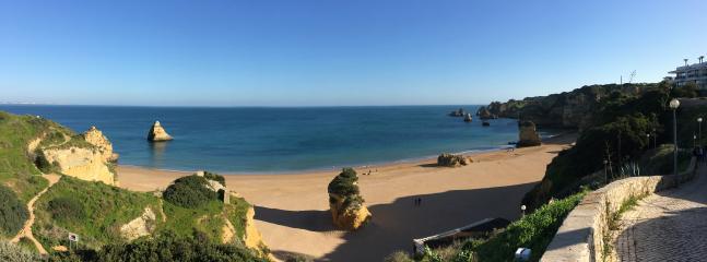 Full scope shot of Praia Dona Ana Beach