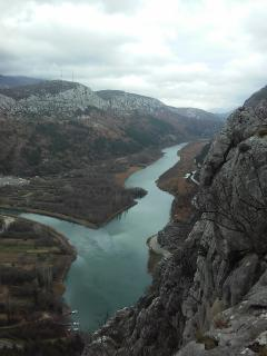 the canyon of river Cetina